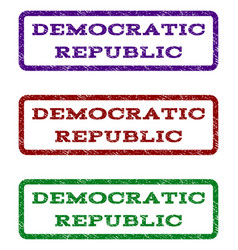 Democratic republic watermark stamp vector