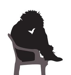 Depressed silhouette vector