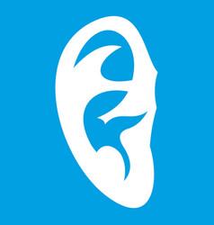 Ear icon white vector