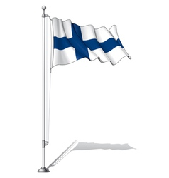 Flag Pole Finland vector image