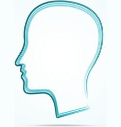 Grungy human head icon vector