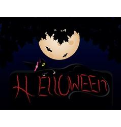 Halloween cat vector image vector image