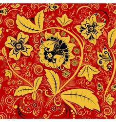 Hohloma floral pattern vector