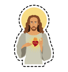 jesus christ icon image vector image vector image