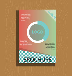 Modern light business card template for company vector