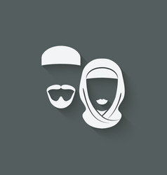 Muslim man and woman vector image