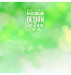 Natural green blurred background vector image vector image