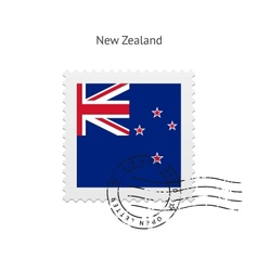 New zealand flag postage stamp vector
