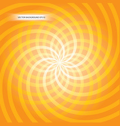 orange vortex vector image