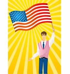 patriotic man vector image vector image