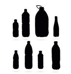 plastic bottles symbols vector image