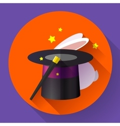 Rabbit and magic hat vector