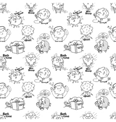 Sheep pattern vector image vector image