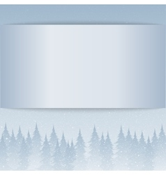 Snow falling empty card forest vector