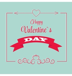 St Valentine Days Greeting Card in Retro Style vector image vector image