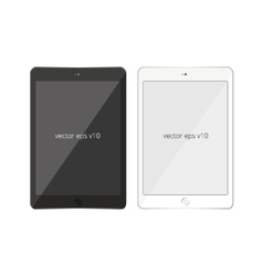 Tablet pad white black mobile vector