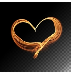 Transparent flame heart vector
