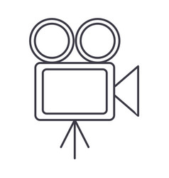 video cinema retro camera vector image