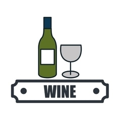 wine list drink isolated icon vector image vector image