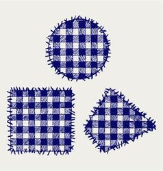 Set patchwork vector image