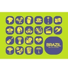 Flat icons brazil 5 vector