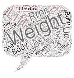 Pump iron and speed up your metabolism text vector