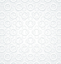 White Abstract Circles Retro background vector image