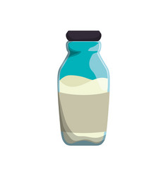 Milk glass bottle vector
