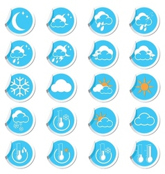 Weahter forecast icons set vector