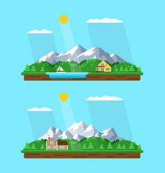 Summer mountains landscape vector