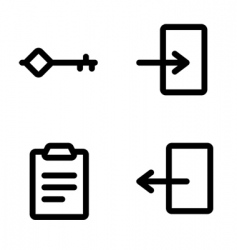 Authentication icons vector