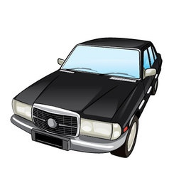 Black retro car vector