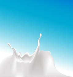 Milk splash at the bottom of the design - vector