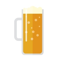 Beer cup isolated vector