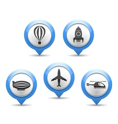 Air transport icons vector