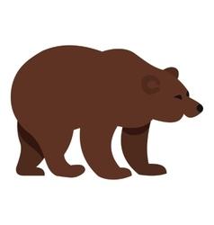 Bear icon flat style vector
