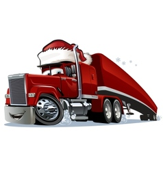 Cartoon Christmas Truck vector image vector image