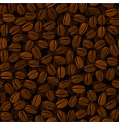 Coffee beans seamless vector