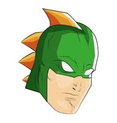 comic style male superheroe with green mask and vector image