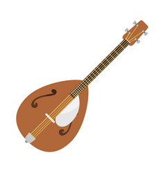 dombra guitar icon stringed musical instrument vector image vector image