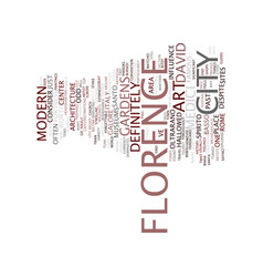 Florence italy of david and such text background vector