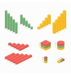 Graphs of differentcolors vector image