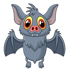 Happy Vampire Bat Cartoon Character Flying vector image vector image