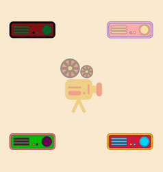 Home theater collection in vector