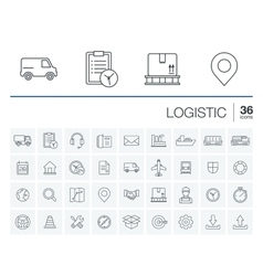 Logistic and distribution icons vector