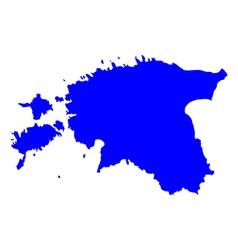 Map of Estonia vector image vector image