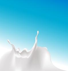 Milk splash at the bottom of the design - vector