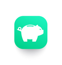 Moneybox piggy bank icon vector