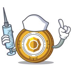 Nurse komodo coin character cartoon vector