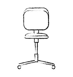 Office chair wheel seat comfortable icon vector